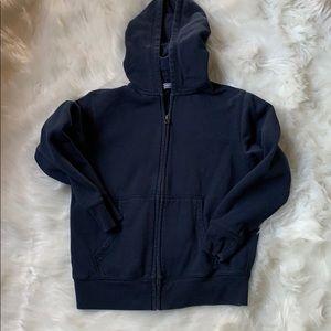 Lands end dark blue zip up hoodie